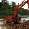 Réalisation d'une plateforme en rivière