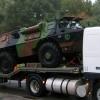 Transport de véhicules du Ministère de la Défense